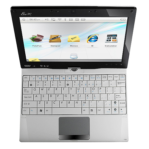 Asus Eee PC T91 згори