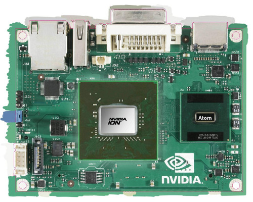 NVIDIA ION with motherboard