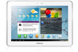 Samsung Galaxy Tab 2 10.1 front white